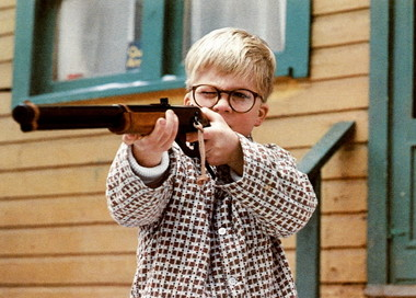 Showing Ralphie  and his Red Ryder.