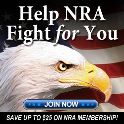 Join the NRA today and help the fight to save our Second Amendment Rights!  Click the eagle and save $10 on the Price of your membership.