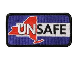 Showing the NY UNSAFE Patch